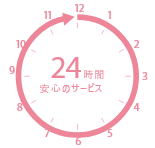 24時間安心のサービス